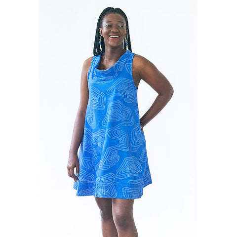 Eli Dress Blue Agate