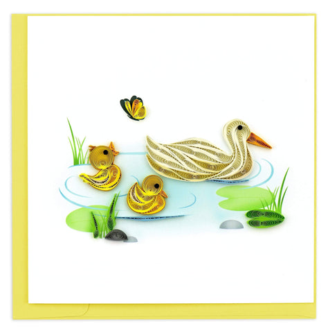 Quilled Duck & Ducklings Card