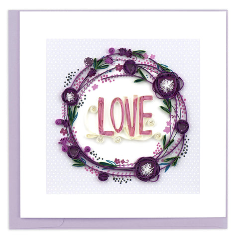 Quilled Love Wreath Card