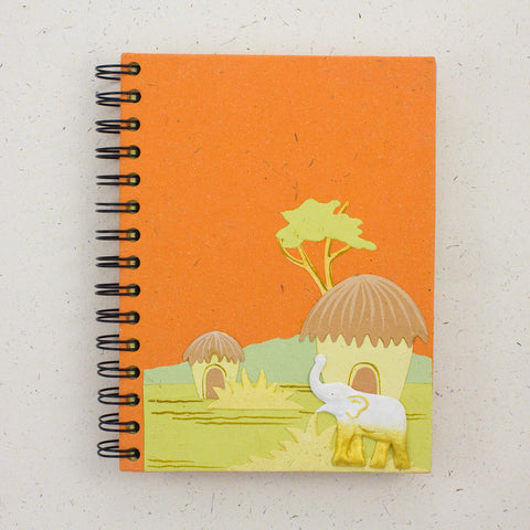 Large Notebook Elephant Orange