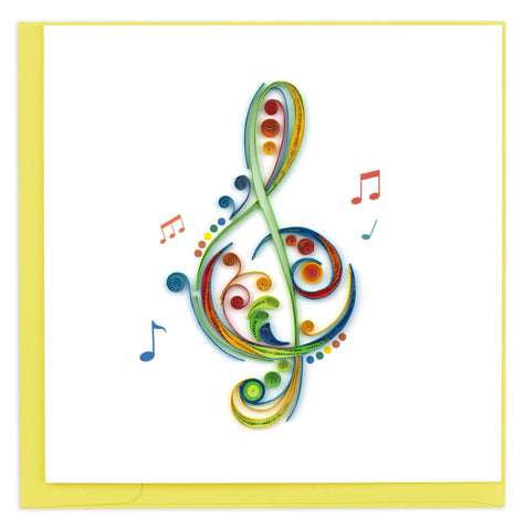 Quilled Treble Clef Card