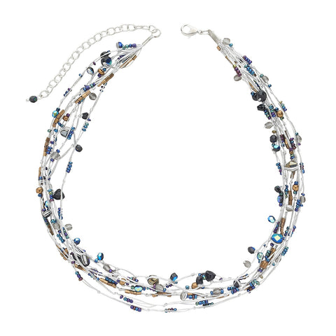 Suspended Galaxies Necklace