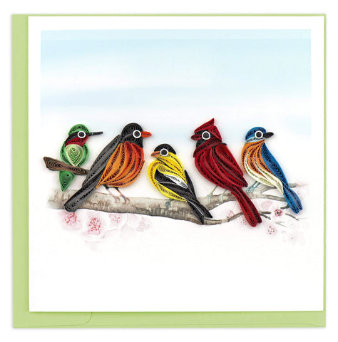 Quilled Songbirds Card