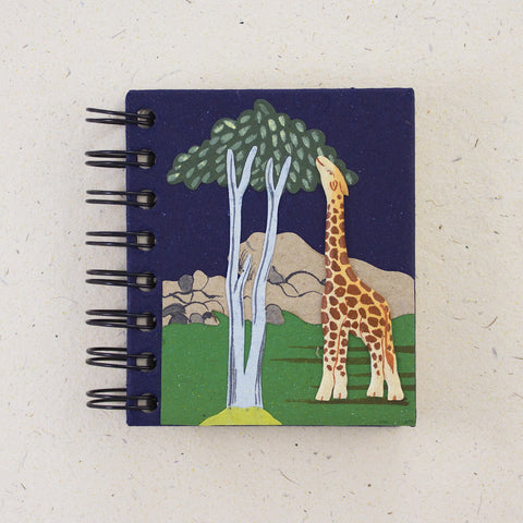 Small Notebook Giraffe Dark Blue