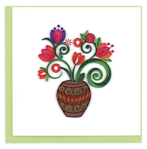 Quilled Terracotta Bouquet Card