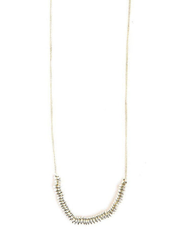 Delicate Disks Necklace - Silver