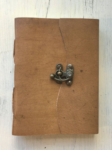Tan Clasp Journal