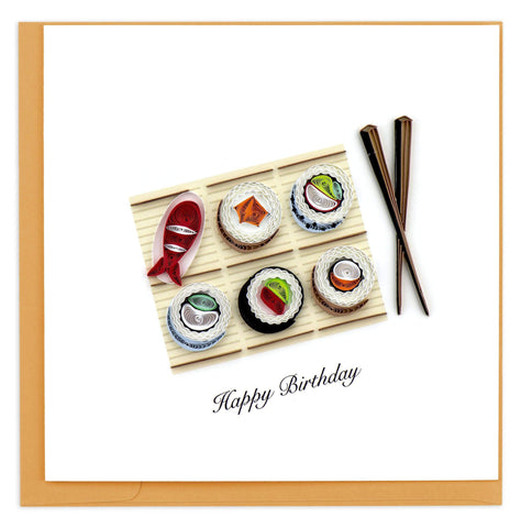 Quilled Birthday Sushi Card