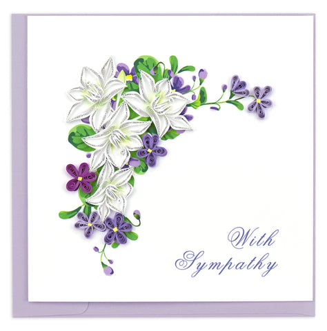 Quilled Flower Sympathy Card