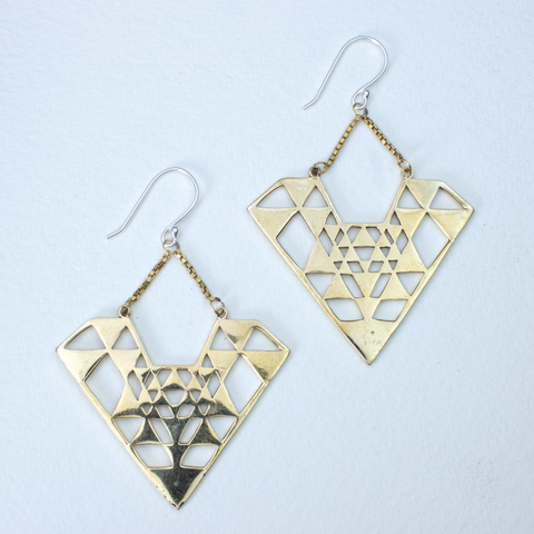 Diamond Yantra Earrings