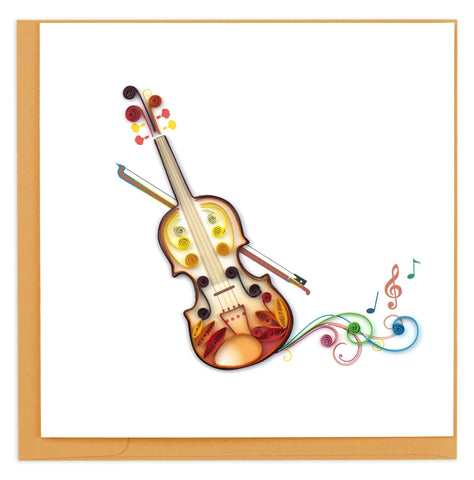 Quilled Violin Card