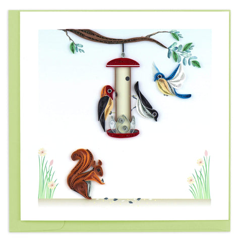 Quilled Bird Feeder Card