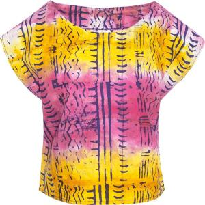 Boxy Blouse Pathways Rainbow