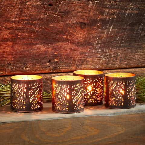 River Birch Tea Light Lantern