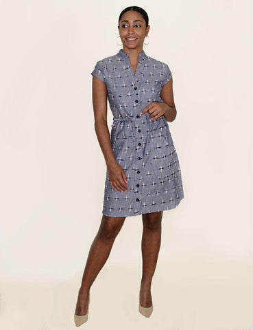 Chambray Button Dress