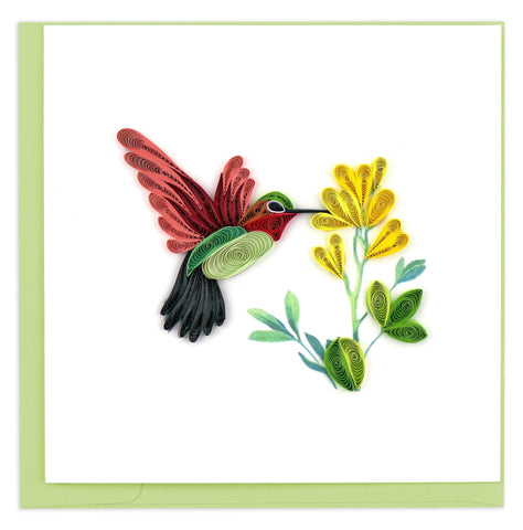 Quilled Hummingbird Card