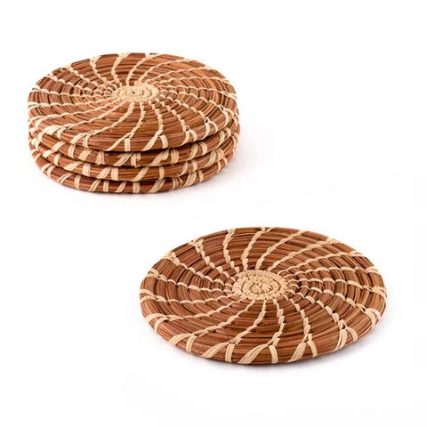Pine Needle Coaster Set