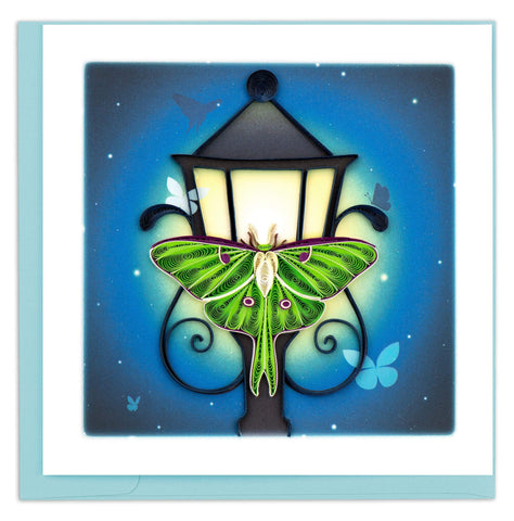 Quilled Luna Moth Card