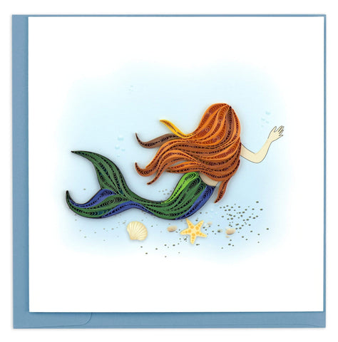 Quilled Mermaid Card