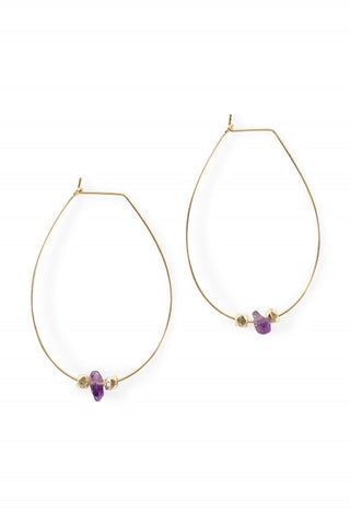 Little Bits of Good Earrings - Purple