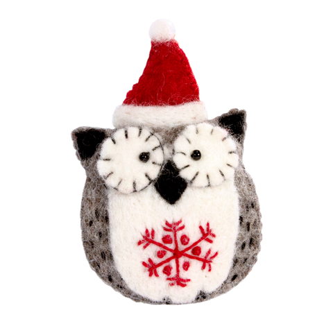 Snowflake Owl Ornament