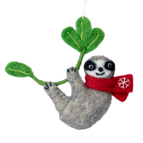Snowflake Sloth Ornament