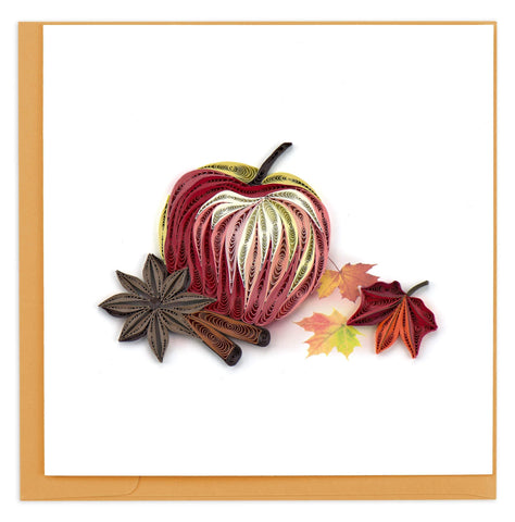 Quilled Autumn Apple Card