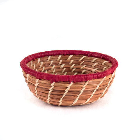 Miniature Pine Needle Basket Bowl