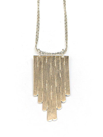 Picket Fence Pendant Necklace - Silver