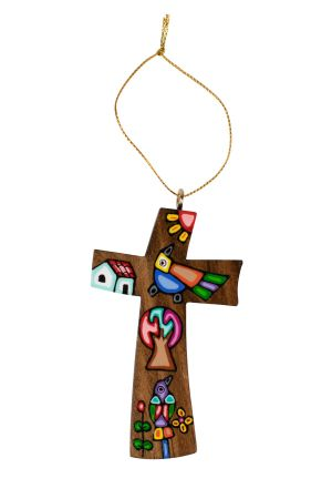 Folk Art Cross Ornament