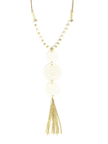 Indian Palace Tassel Necklace