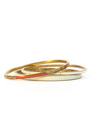 Sunrise Brass Bangle Set