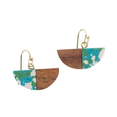 Water and Wood Earrings