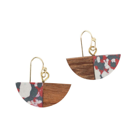 Fire and Wood Earrings