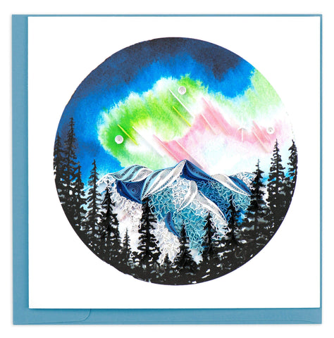 Quilled Northern Lights Card