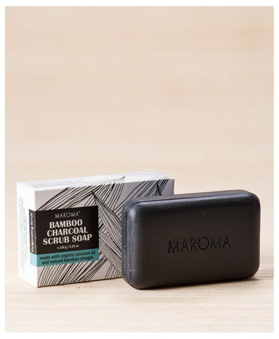 Bamboo Charcoal Scrub Soap