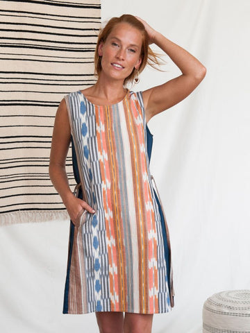 Dakota Dress Rainbow Ikat