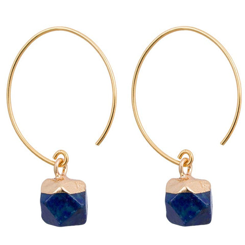 Clara Earrings/Dark Blue