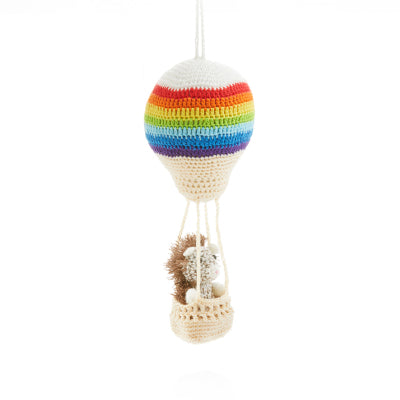 Aeronaut Hedgehog Crocheted Ornament