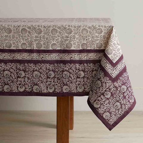Aubergine Wildflower Tablecloth 60x90