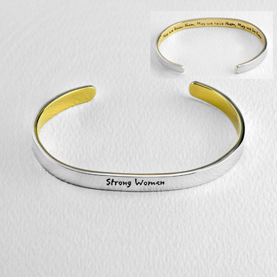Strong Women Stackable Cuff