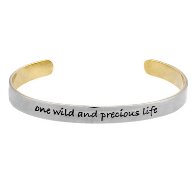 One Wild and Precious Life Stackable Cuff