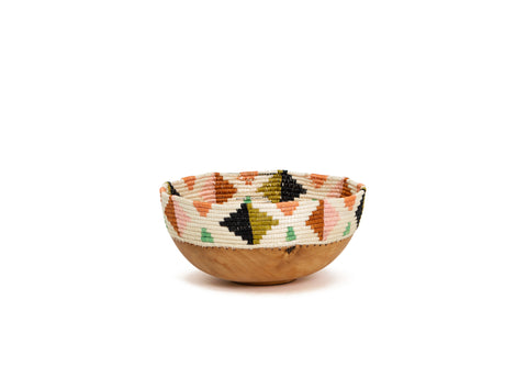 Desert Flower Wooden Bowl