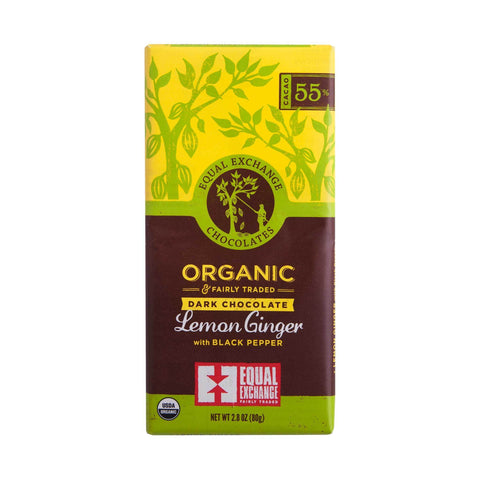 Organic Dark Chocolate Lemon Ginger