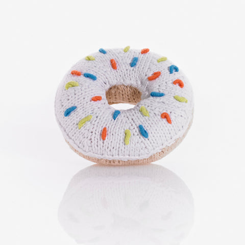Donut Rattle White Sprinkles