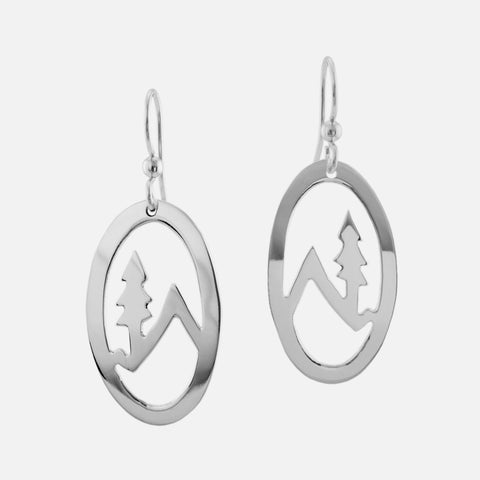 Mountain Tree Wire Earrings