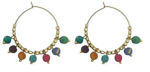 Kantha Bauble Hoops