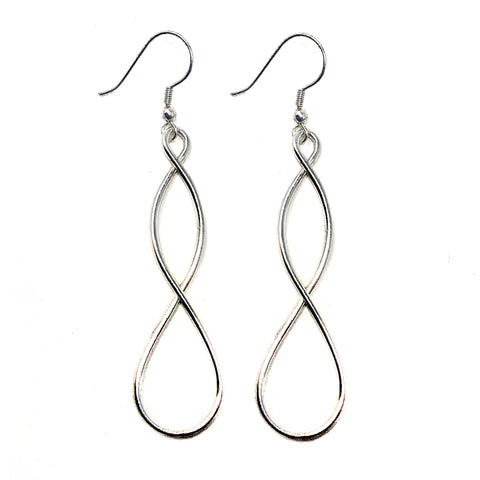Double Helix Earrings Silver