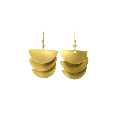 Cascading Moon Earrings Gold