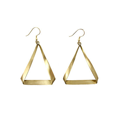 Triangle Ribbon Earrings